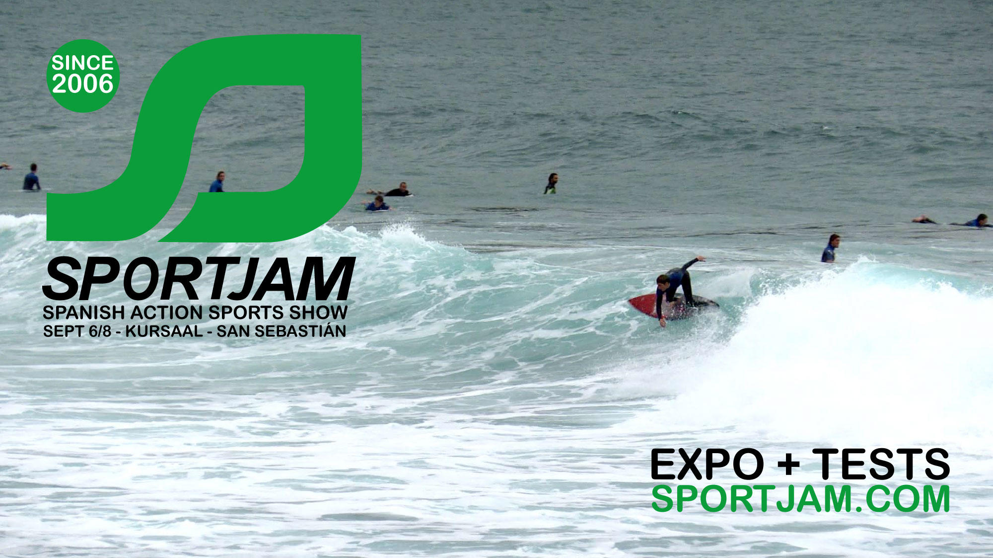 Sportjam Spanish action spors show will place from september 6 to 8 in San Sebastian city.